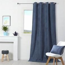 rideaux gris rideau occultant isolant 140 x h260 cm alaska bleu