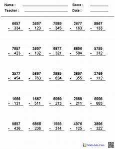 math worksheet 3 digit subtraction with regrouping subtraction worksheets dynamically created subtraction