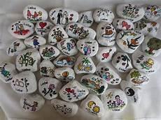 Bemalte Steine Kaufen - 10 wunschsteine gemalt auf carrara marmor bemalte steine 5