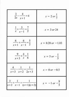fraction algebra equations worksheets 3926 solving algebraic fractions algebra secondary school teaching multiplication worksheets