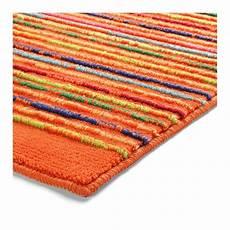 tapis de bain esprit home cool stripes orange 60x100