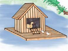 mallard duck house plans how to build a floating duck house total survival