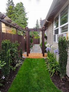 Narrow Side Yard Makeover Narrow Side Yard With Arbor