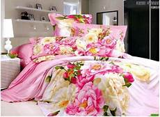 vintage pink blue floral flower bedding duvets cover bedspreads bedding set king queen size bed