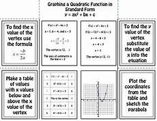 graphing a quadratic function in standard form by foresta math tpt