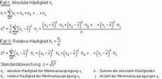formelsammlung zur beschreibenden statistik mathe brinkmann