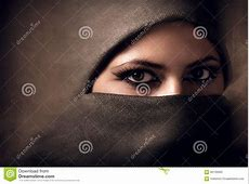 Young Arabian Woman In Hijab. Toning Stock Photo   Image