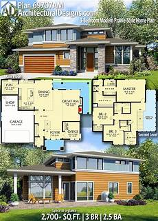 modern sims 3 house plans plan 69707am 3 bedroom modern prairie style home plan