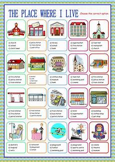 places around town worksheets 16029 the place where i live choice interactive worksheet