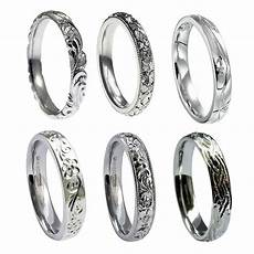 hand engraved 9ct white gold 3mm wedding rings court comfort new 375 uk hm bands ebay