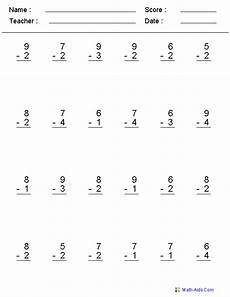 math subtraction worksheets 1 10 subtraction worksheets dynamically created subtraction