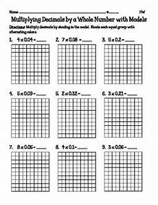 decimal worksheets with models 7336 multiplying decimals by a whole number with models 5 nbt7 by catherine arnold