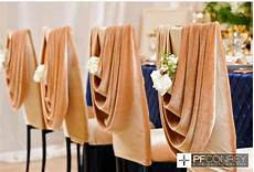 wedding chair covers swag with flower in the dip is a nice