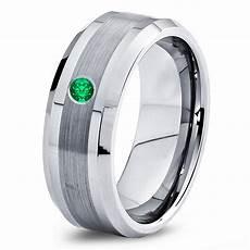 buy tungsten wedding band 8mm mens wedding bands green emerald band mans mens carbide male