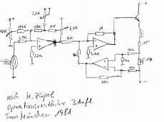 Schaltplan F 252 R Analoge Steuerung Der Quot Schwebenden Kugel