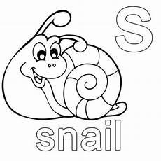 kostenlose malvorlage englisch lernen snail zum ausmalen