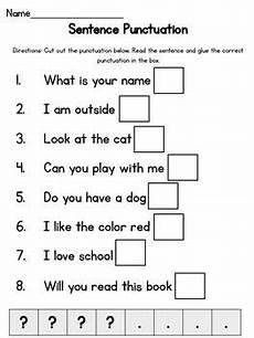 punctuation worksheets period question 20879 simple sentence punctuation 2nd grade worksheets simple sentences kindergarten grammar