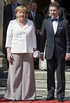 Angela Merkel Mit Ehemann Joachim Sauer Foto Apn 1