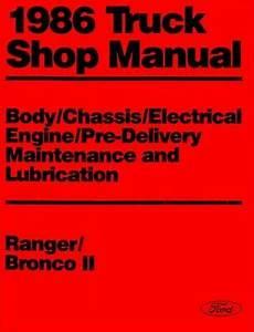 service manuals schematics 1986 ford f series engine control 1986 ford bronco ii ranger shop service repair manual book oem engine drivetrain ebay