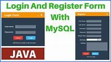 java login and register form with mysql database c java php programming source code