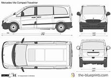 hauteur mercedes vito mercedes vito compact traveliner vector drawing