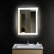 led lights wall mounted bathroom lighted mirror vanity dimmable w touch button 603161406782 ebay