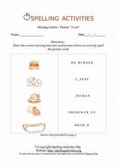spelling names worksheets 22490 missing letters spelling worksheet with food names