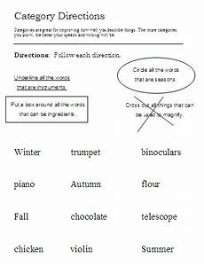 following directions worksheets grade 4 11700 categories word lists activities worksheets and more free language stuff