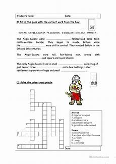 the anglo saxons history test worksheet free esl printable worksheets made by teachers