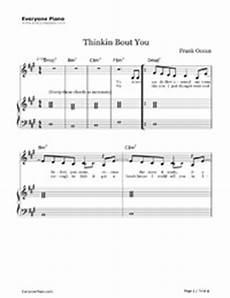 thinkin bout you frank ocean free piano sheet music piano chords