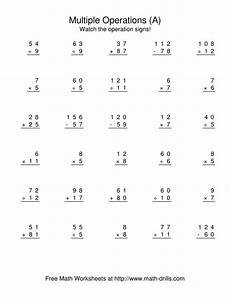 decimal worksheets mixed operations 7219 all operations using numbers to 12 a