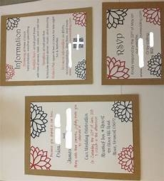 diy kraft paper invitations done finally weddingbee