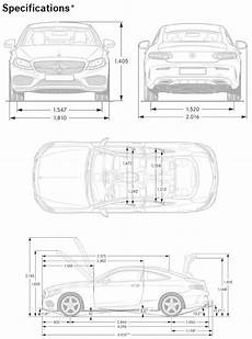 Vehicle Dimensions 2017 C300 And C43 Coupe