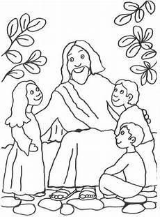 Ausmalbilder Ostern Religion Szenen Aus Der Bibel Kostenlose Malvorlage Jesus Spricht