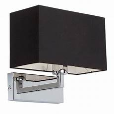 sg96750 ch chrome wall bracket complete with black shade national lighting