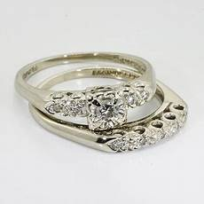 14k white gold diamond vintage wedding ring online
