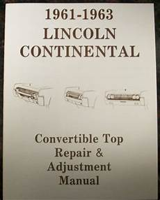 free car repair manuals 1984 lincoln continental seat position control 1958 to 1988 lincoln automotive manuals