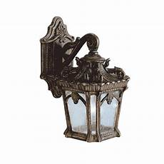 ip44 small outdoor wall lantern with ornate bronze gothic detailing