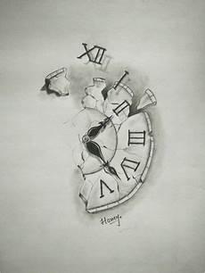 broken clock tattooinspiration click to see more clock