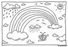 Ausmalbild Regenbogen Ausmalen Quot Ausmalbild Regenbogen Quot Stockfotos Und Lizenzfreie Bilder