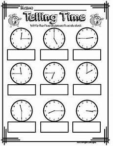 telling time to quarter hour analog clock printable worksheet tpt
