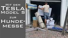 garage mit strom mieten mit dem tesla model s zur hundemesse strom garage