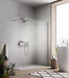 moderne begehbare duschen begehbare dusche mit duschwand aus glas f 252 r moderne