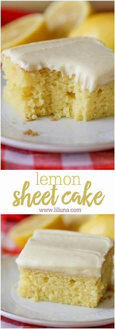 easy lemon cake super moist lemon sheet cake lil