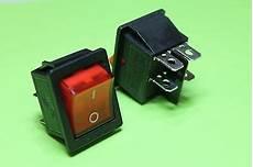 light off ac rocker switch 250v 16 125v 20a dpst 4 lug terminals usa 5 95 picclick