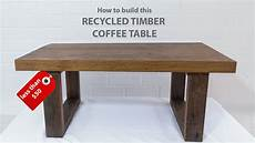 easy diy modern coffee table using reclaimed wood and