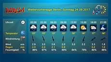 wie wird das wetter morgen in berlin sonntag 24 september