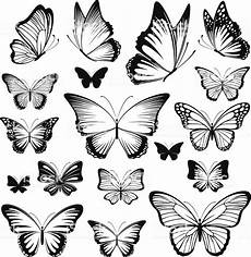 Butterfly Vector Silhouettes Stock Illustration