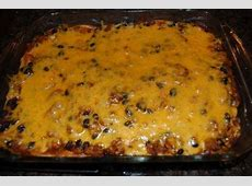 layered corn tortilla taco casserole