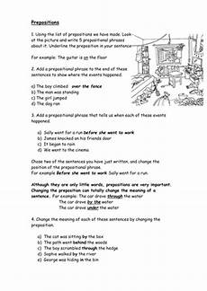 prepositions worksheet by catrionalatham teaching resources tes